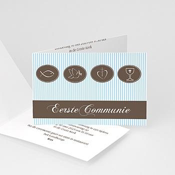 Uitnodiging communie jongen - Communie design - 1