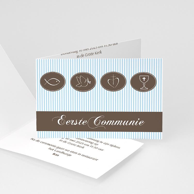 Uitnodiging communie jongen Communie design