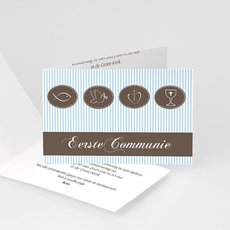 Uitnodigingen Communie Jongen Communie design