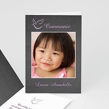 Uitnodiging communie meisje - Om met jullie te delen - 1