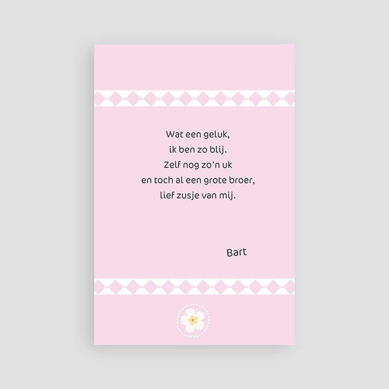 Geboortekaartje meisje Oneindig roze pas cher