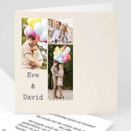 Personaliseerbare trouwkaarten - Huwelijk mozaiek 11186 thumb
