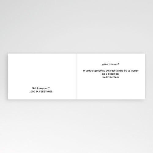 Trouwkaarten zonder Foto Voor altijd pas cher