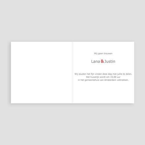 Trouwkaarten - Hartjes tussen hartjes 11199 thumb