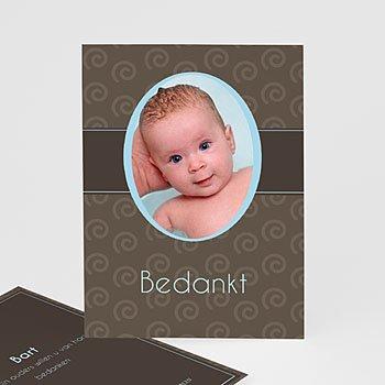 Bedankkaartje geboorte zoon - Chic op de cover - 1