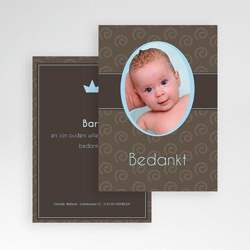 Bedankkaartje geboorte zoon - Chic op de cover 11209 thumb