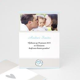 Aankondiging Adoption Moderne adoptiekaart, jongen