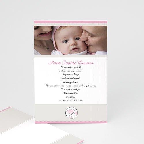 Adoptiekaarten voor meisjes - Moderne adoptiekaart, meisje 11218 thumb