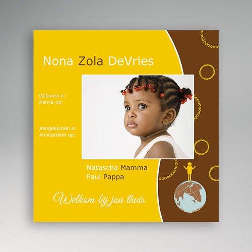 Adoptiekaarten voor meisjes - Ons adoptiekind 11224 thumb