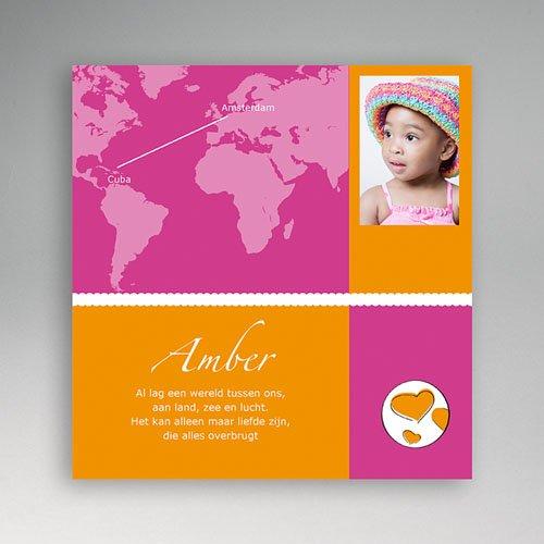 Adoptiekaarten voor meisjes - Reis met jou om de wereld 11232 thumb