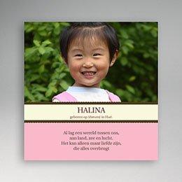 Aankondiging Adoption Universele adoptiekaart, meisje