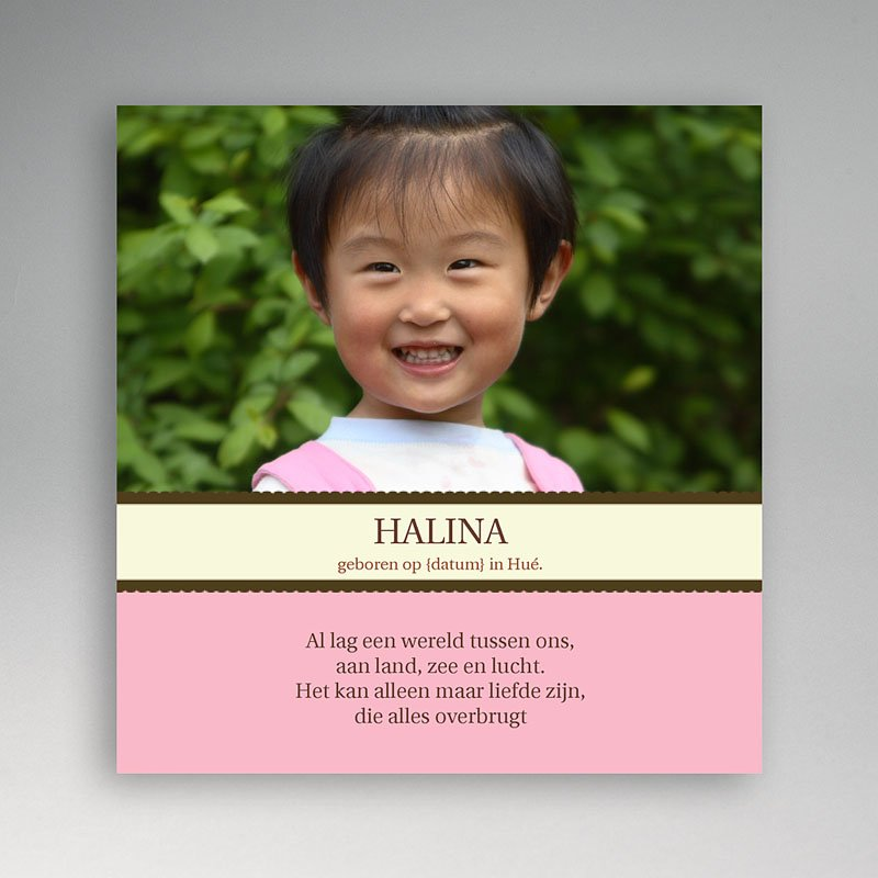 Adoptiekaarten voor meisjes - Universele adoptiekaart, meisje 11242 thumb