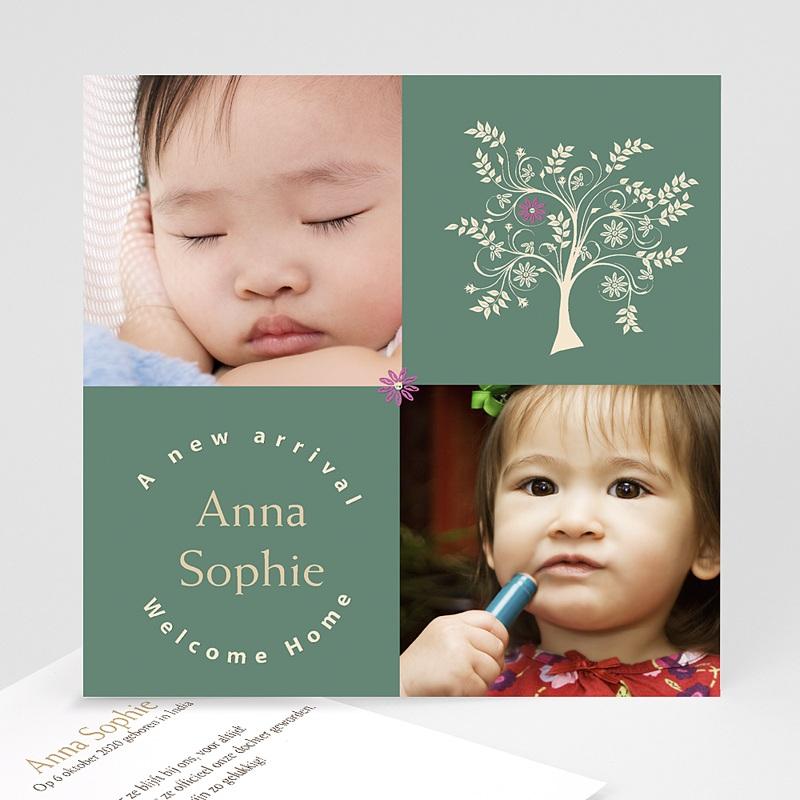 Adoptiekaartjes voor Meisjes Vierkant de mooiste