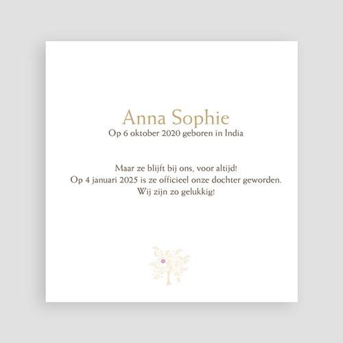 Adoptiekaarten voor meisjes - Vierkant de mooiste 11245 thumb