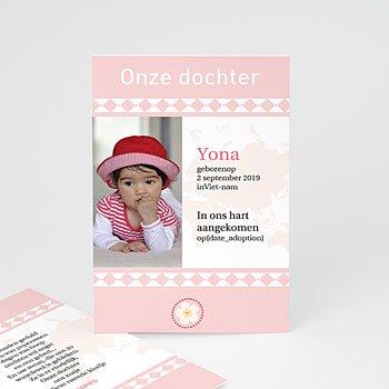 Adoptiekaarten voor meisjes - Oneindig roze - 1