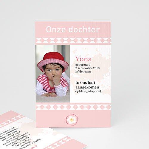Adoptiekaarten voor meisjes Oneindig roze
