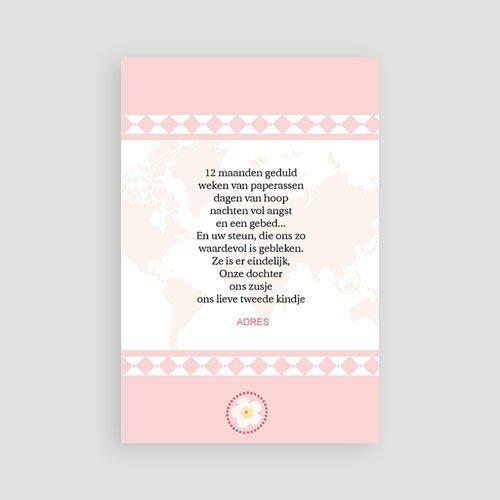 Adoptiekaartjes voor Meisjes Oneindig roze pas cher