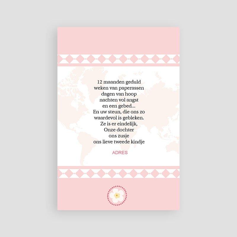 Adoptiekaarten voor meisjes Oneindig roze pas cher