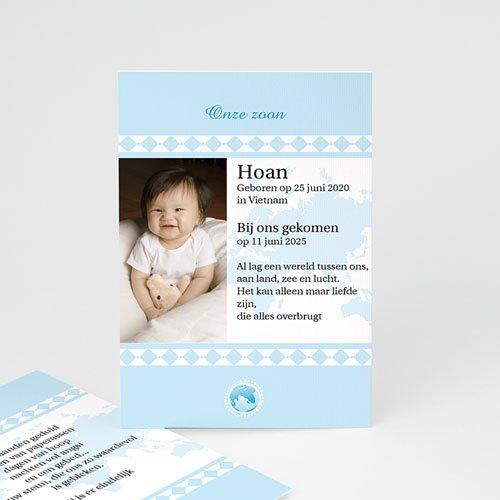 Adoptiekaartjes voor Jongens geadopteerd zoontje