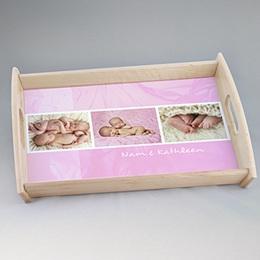 Dienbladen Ingelijst in roze