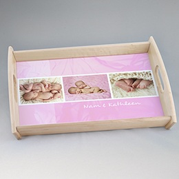 Dienblad Kado Ingelijst in roze