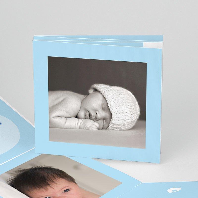 Geboortekaartje jongen Vierdelige serie in blauw