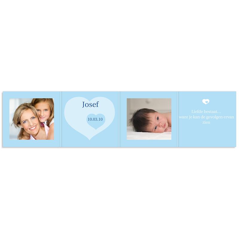 Geboortekaartje jongen Vierdelige serie in blauw pas cher