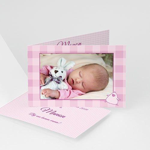 Geboortekaartje meisje - Nieuw in het nestje 11261 thumb