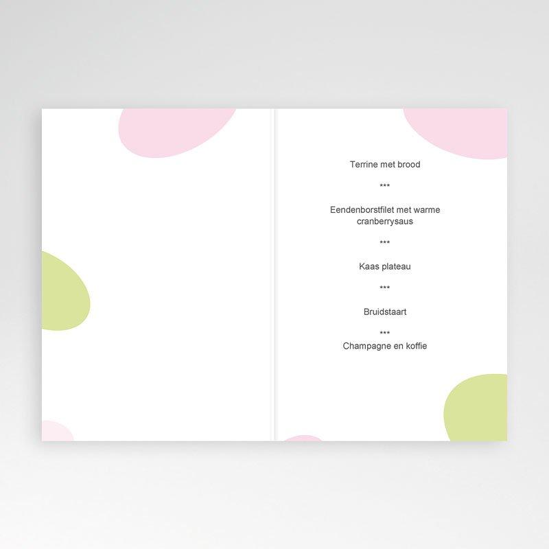 Personaliseerbare menukaarten huwelijk Speelse liefde pas cher