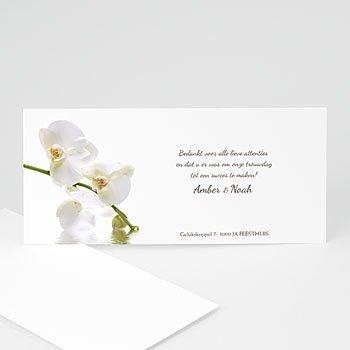 Bedankkaartjes huwelijk - Witte orchidee - 1