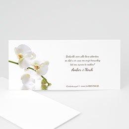 Bedankkaartjes huwelijk Witte orchidee