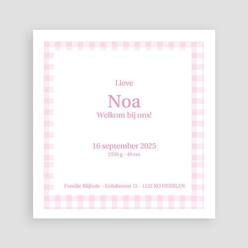Geboortekaartje meisje - Oud Hollands lief 11294 thumb