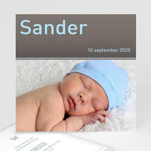 Geboortekaartjes Jongen Strak omlijst