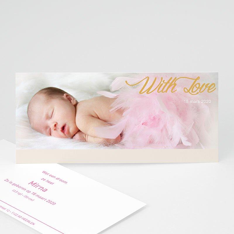 Geboortekaartje meisje - Roze droom 11311 thumb