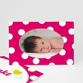 Bedankkaartje geboorte dochter - Sixties rock - 1