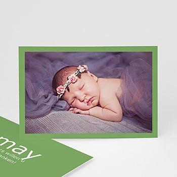 Bedankkaartje geboorte dochter Lentegroen