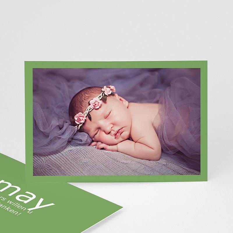 Bedankkaartje geboorte dochter - Lentegroen 11317 thumb