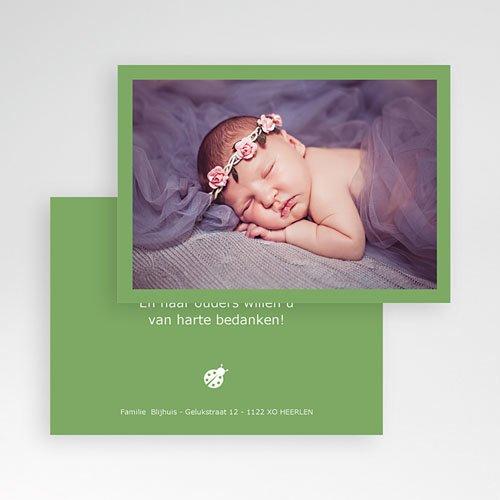 Bedankkaartje geboorte dochter - Lentegroen 11318 thumb