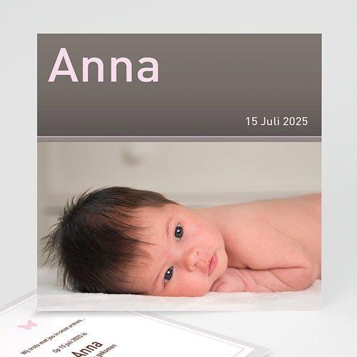 Geboortekaartje meisje - Rond en vierkant pastel 11325 thumb