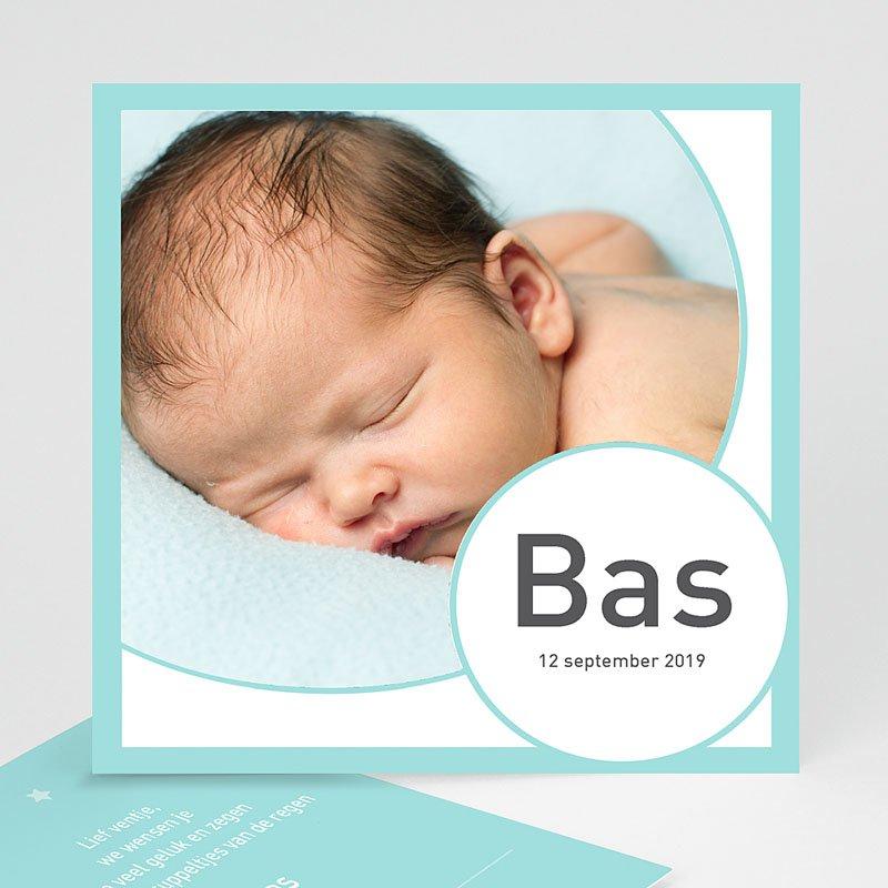 Geboortekaartje jongen - Rond en vierkant zoontje 11329 thumb