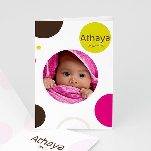 Geboortekaartje meisje - Ik wil bolletje, roze 11341 thumb