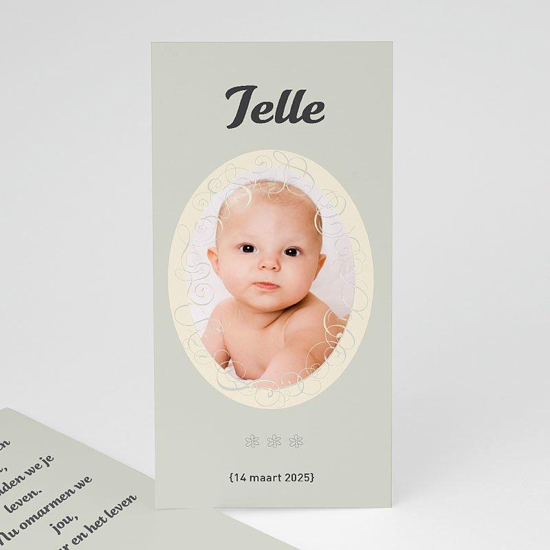 Geboortekaartje meisje - Staand portretje 11349 thumb