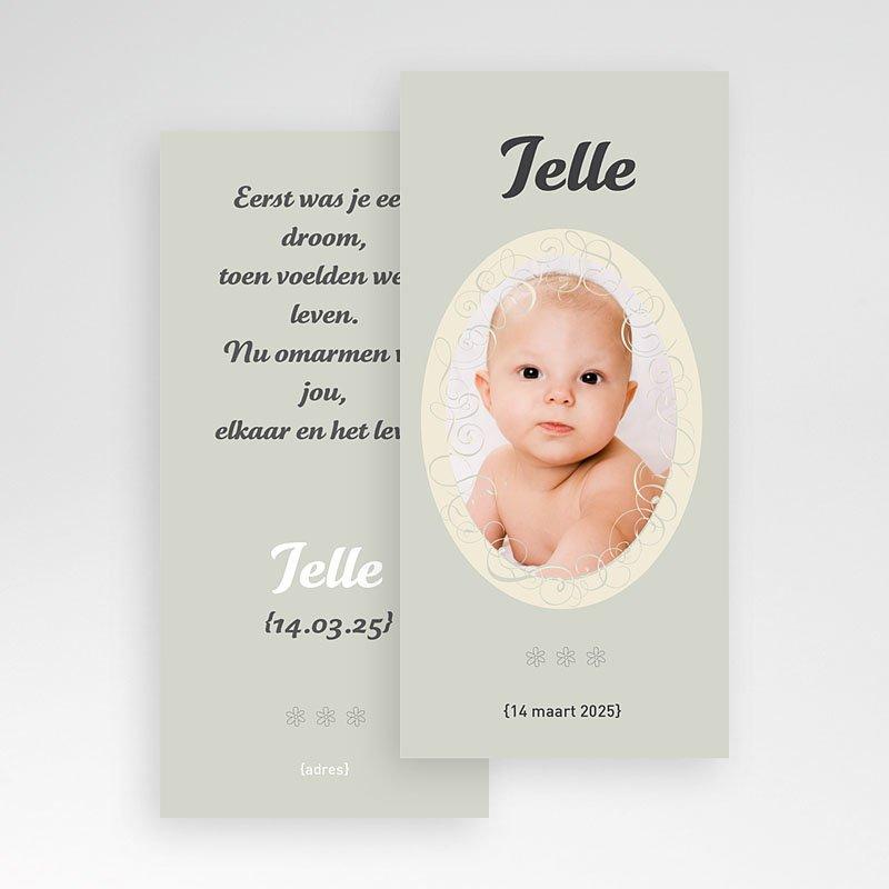 Geboortekaartje meisje - Staand portretje 11350 thumb