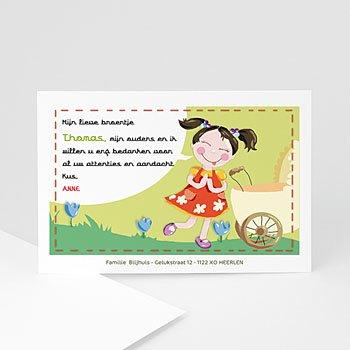 Bedankkaartje geboorte dochter - Mijn zus achter de kinderwagen - 1