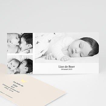 Geboortekaartje meisje - Duotoon meisje - 1