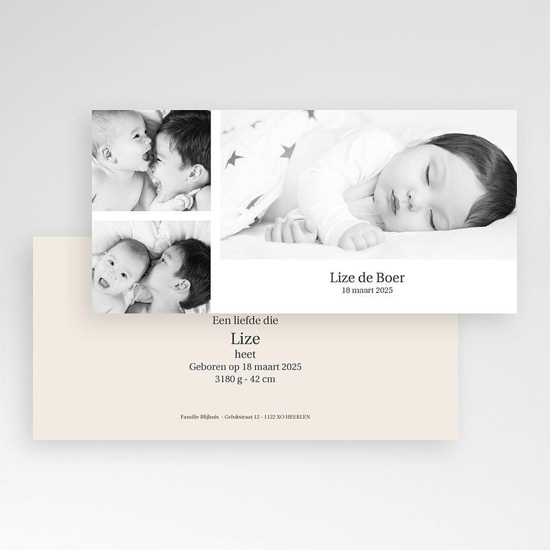 Geboortekaartje meisje Duotoon meisje pas cher