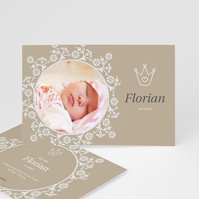 Geboortekaartje meisje - Vorstelijk kaartje 11365 thumb