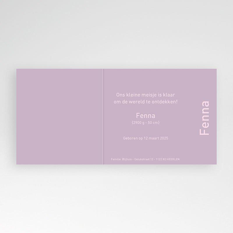 Geboortekaartjes Meisje Retro roze zonnetje pas cher