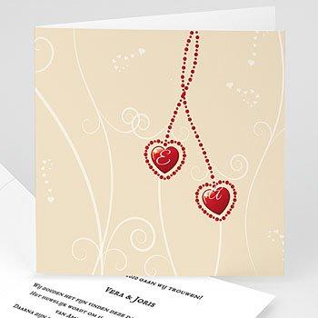 Trouwkaarten Hart - Alle hartjes - 1