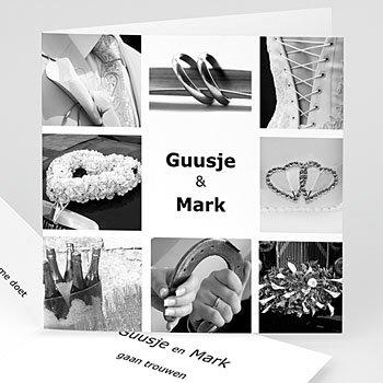 Personaliseerbare trouwkaarten - Omringd met beelden - 1